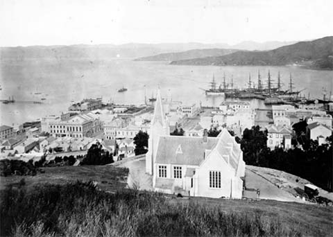 Wellington in the 1870s, photo by James Bragge.
